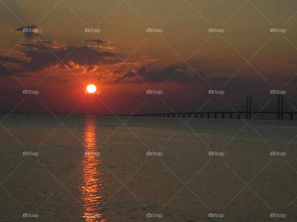Incredible sunsets  Öresundsbron