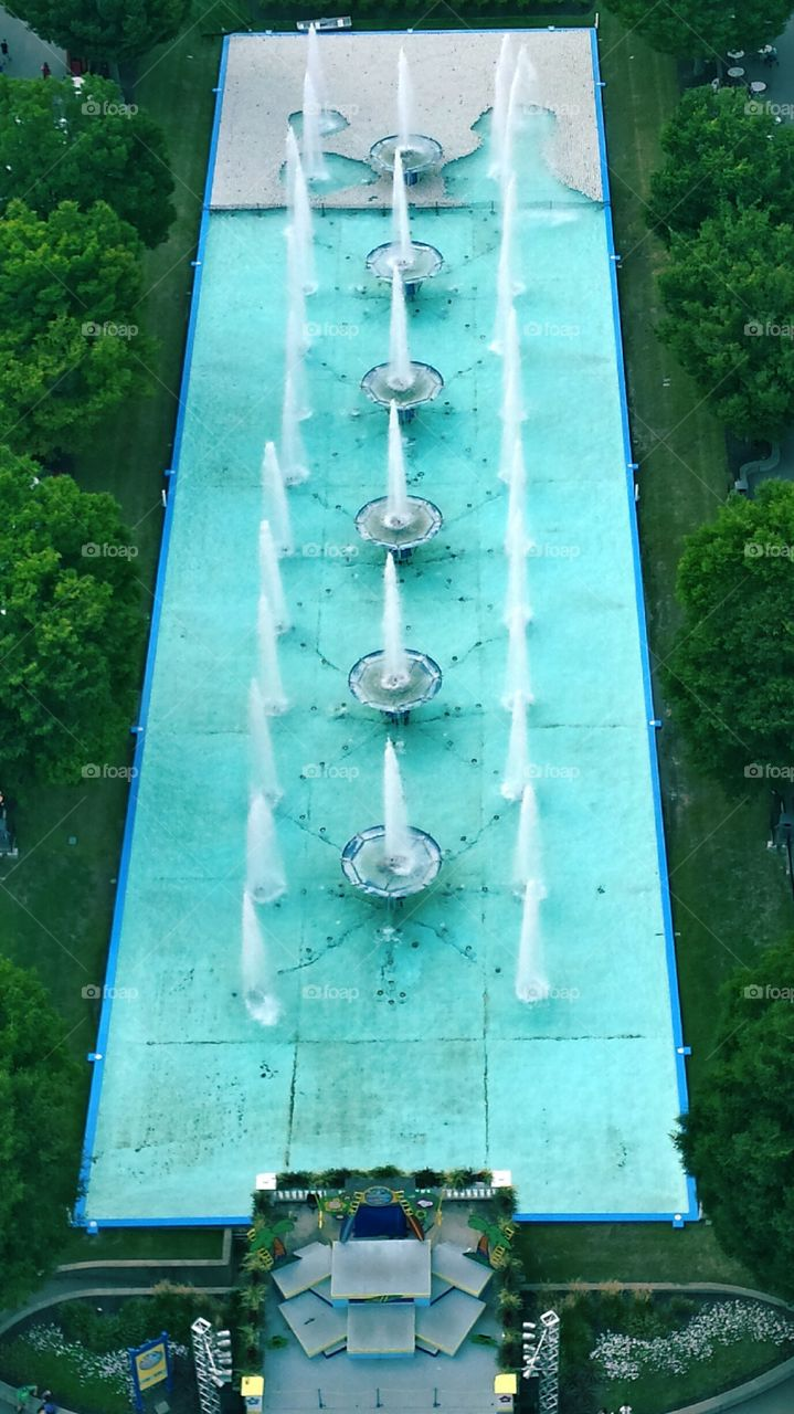 Aerial View of Fountain