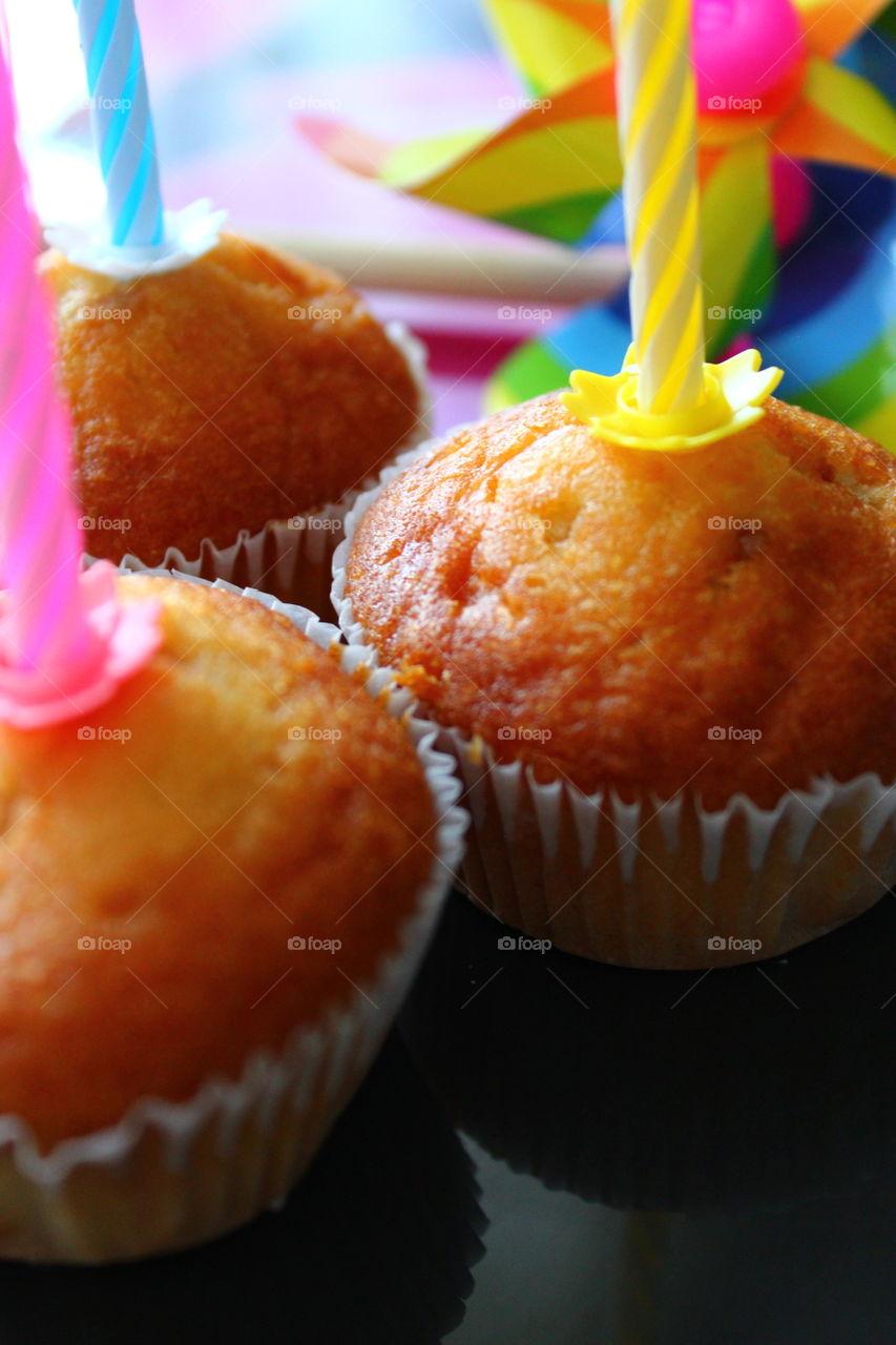 cupcakes macro shots