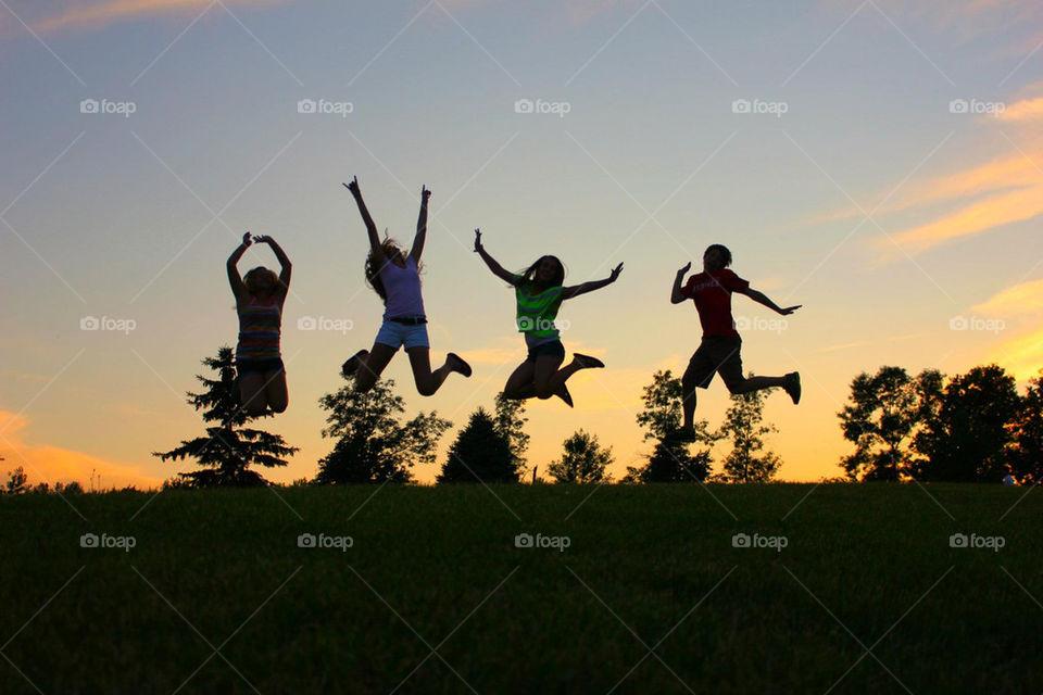 pretty summer sunset fun by laurenmforsyth
