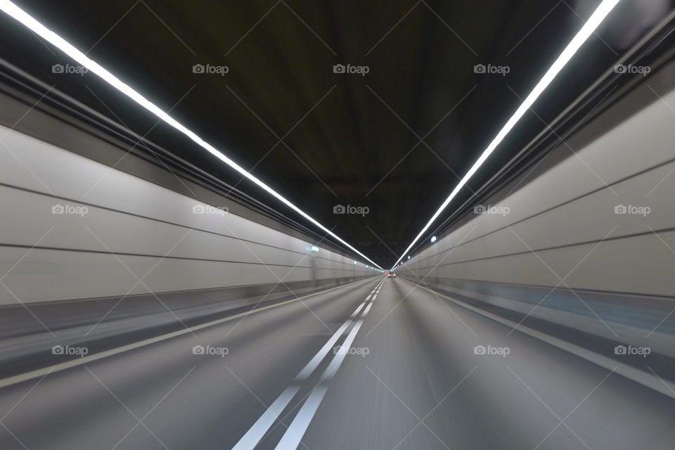 landscape tunnel driving road by jonashallstrom