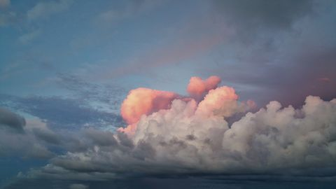 Most strangest beautiful pink clouds I have seen...Bridgetown Barbados