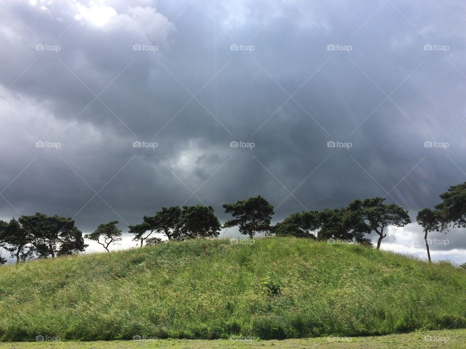 Storm over the hill