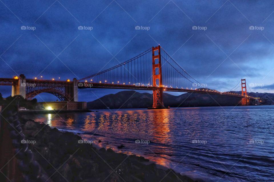 Early morning shot of the Golden Gate Bridge.