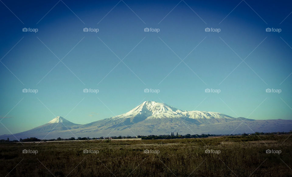Yerevan_gora Ararat,view from the balcony