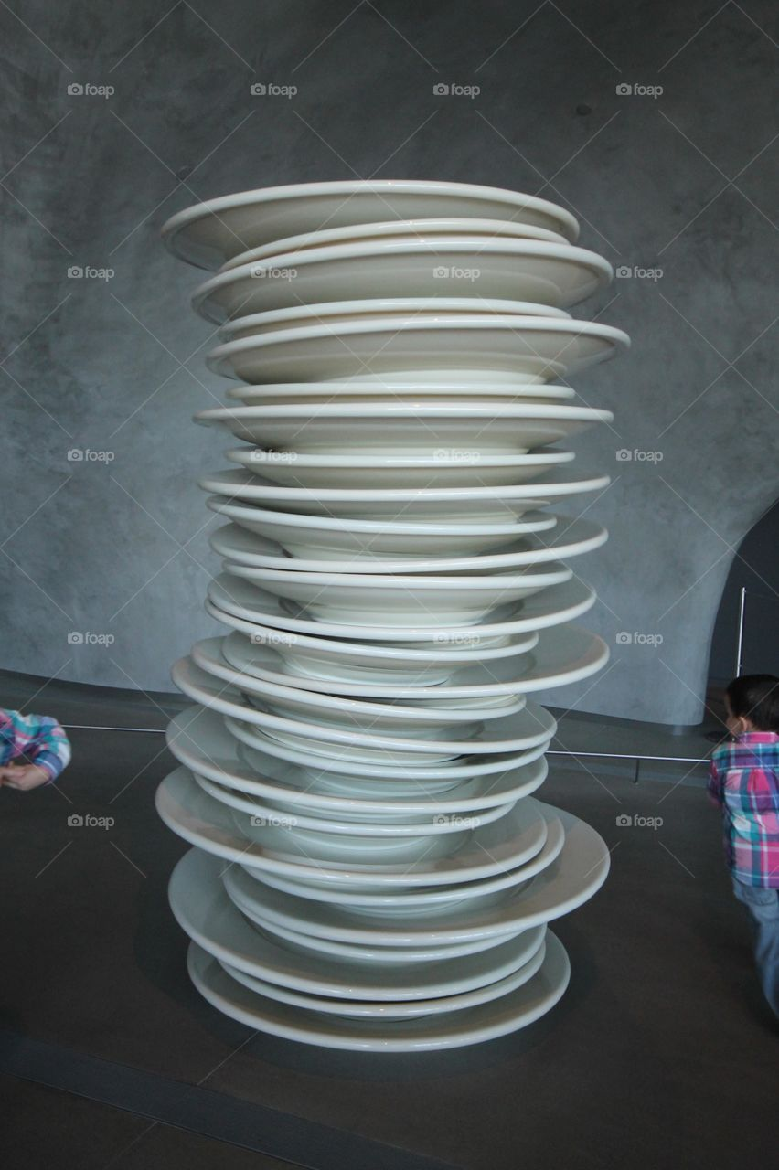 Stack of Dishes at The Broad