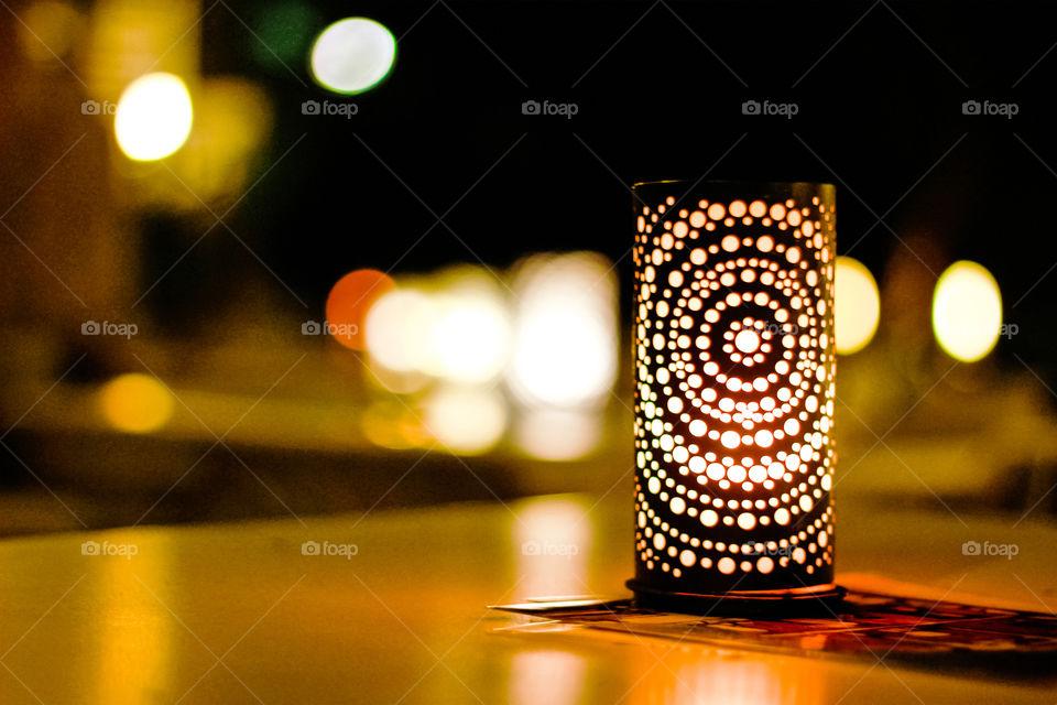 Artificial light - a light wax candle