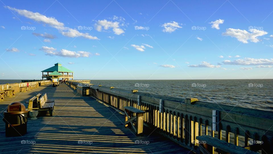 Folly Beach pier, out in Charleston, Sc near the College of Charleston