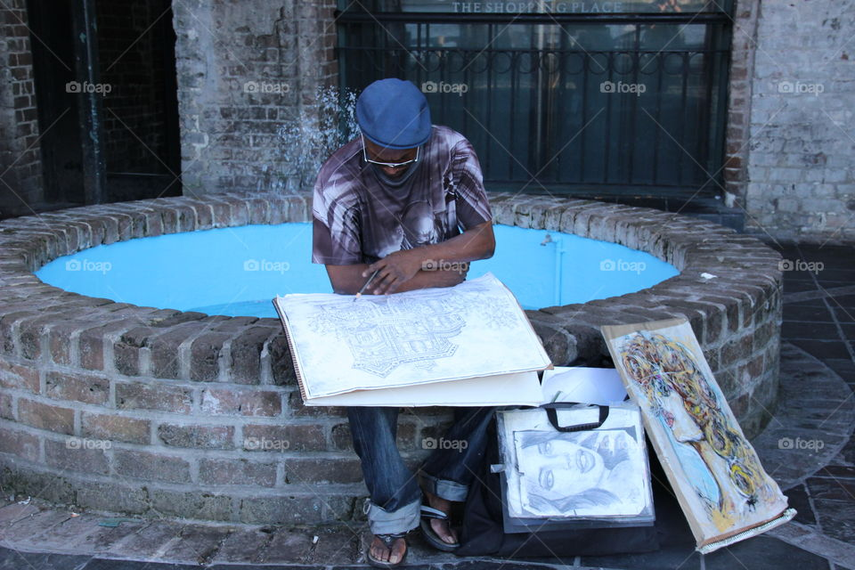 Artist in Savannah