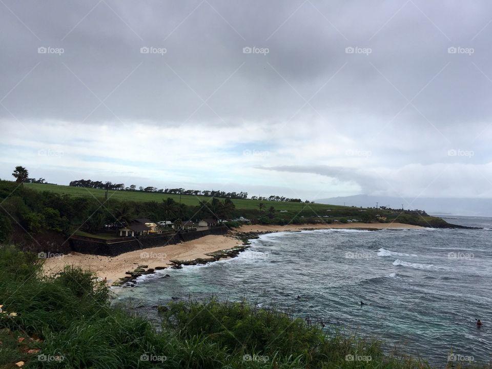 Seaside view at Paia, Road to Hana
