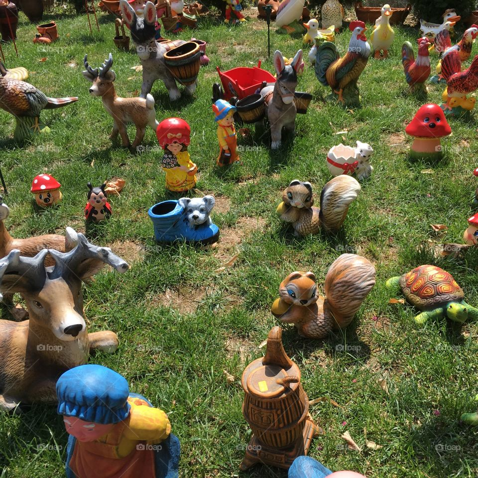 Bulgarian Ceramic figurines for garden