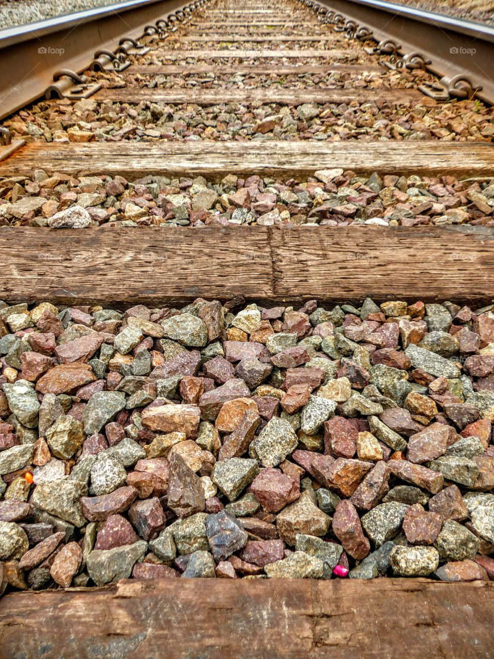 Close-up of a railroad track