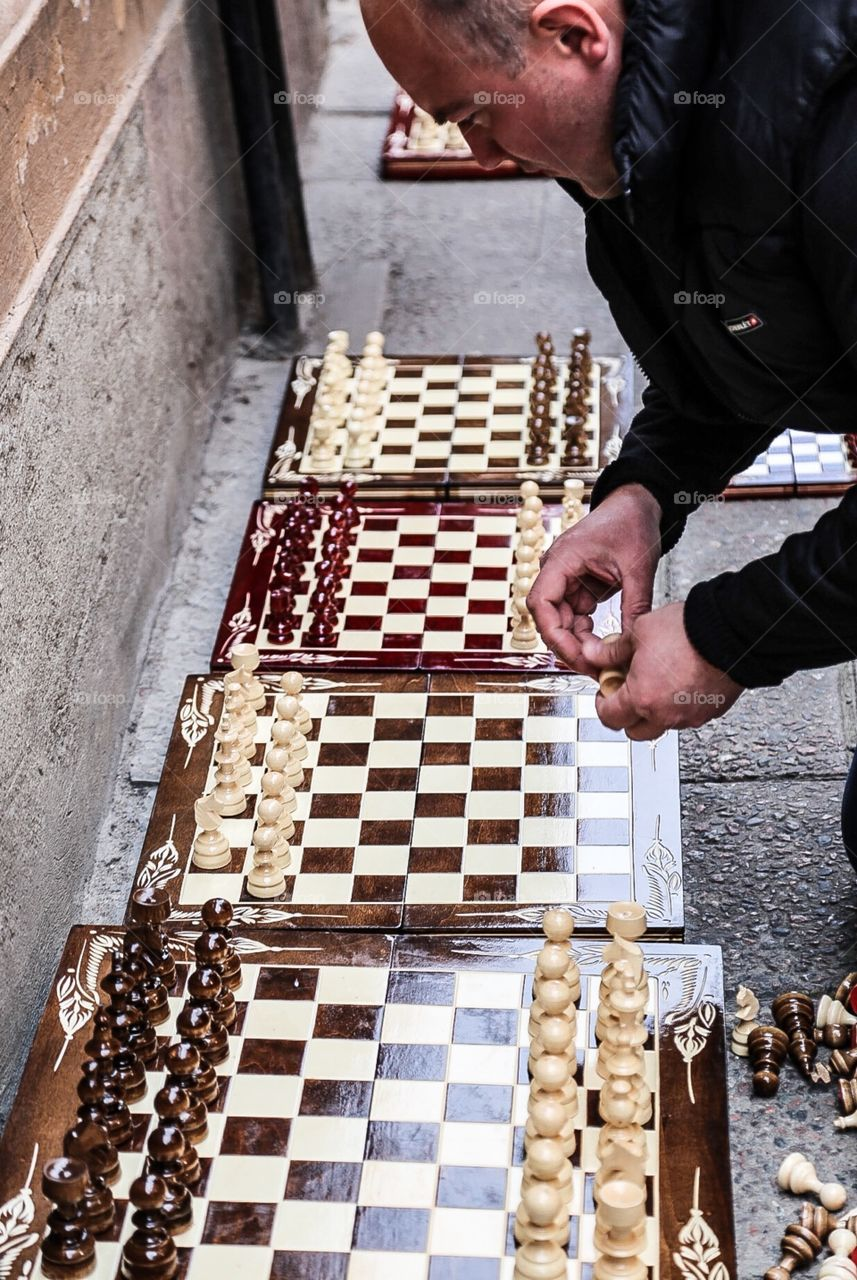 Chess. Chess on the street
