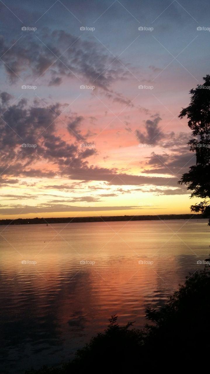 Mellow Rhode Island sunset