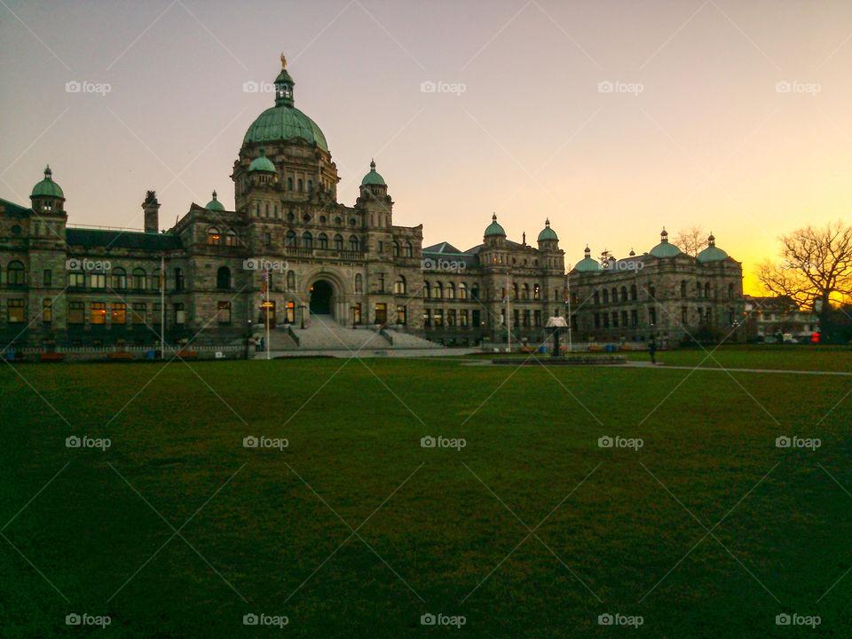British Columbia Legislative. Photo of the BC Parliament in downtown Victoria, BC!
