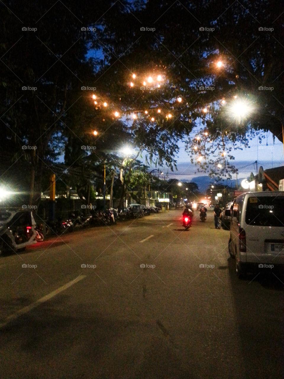 Street of lights Puerto Princessa