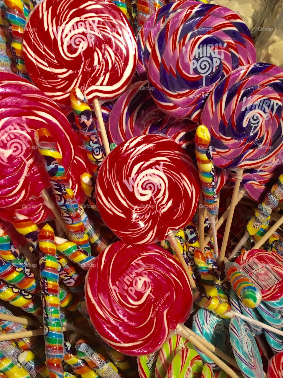 Colorful giant lollipops