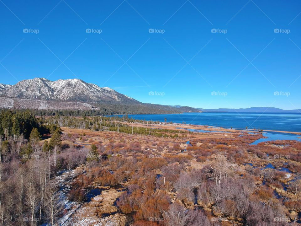 Lake Tahoe aerial view photography