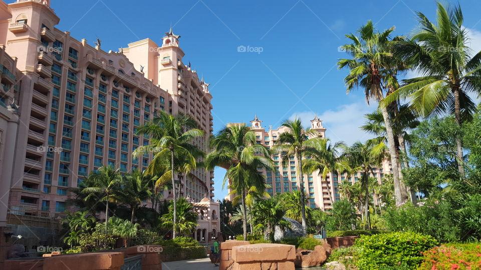 View of the Royal Towers @ Atlantis, Paradise Island, Nassau, Bahamas