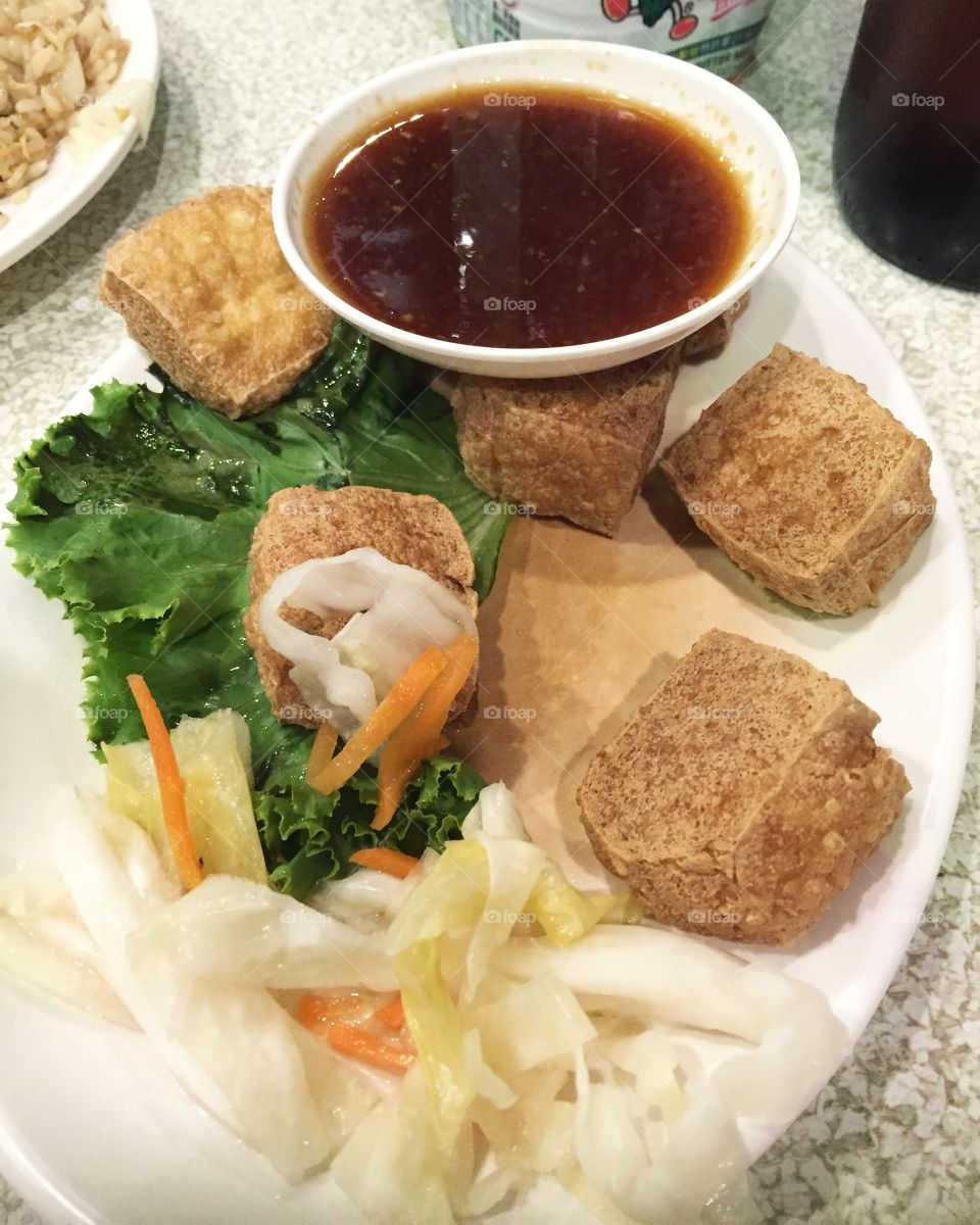 """The stinkier, the better! Stinky tofu in Taiwan is a major must-try! Once you get past the """"special"""" aroma, your taste buds will be in for a treat! One of my absolute favorite street snacks!"""