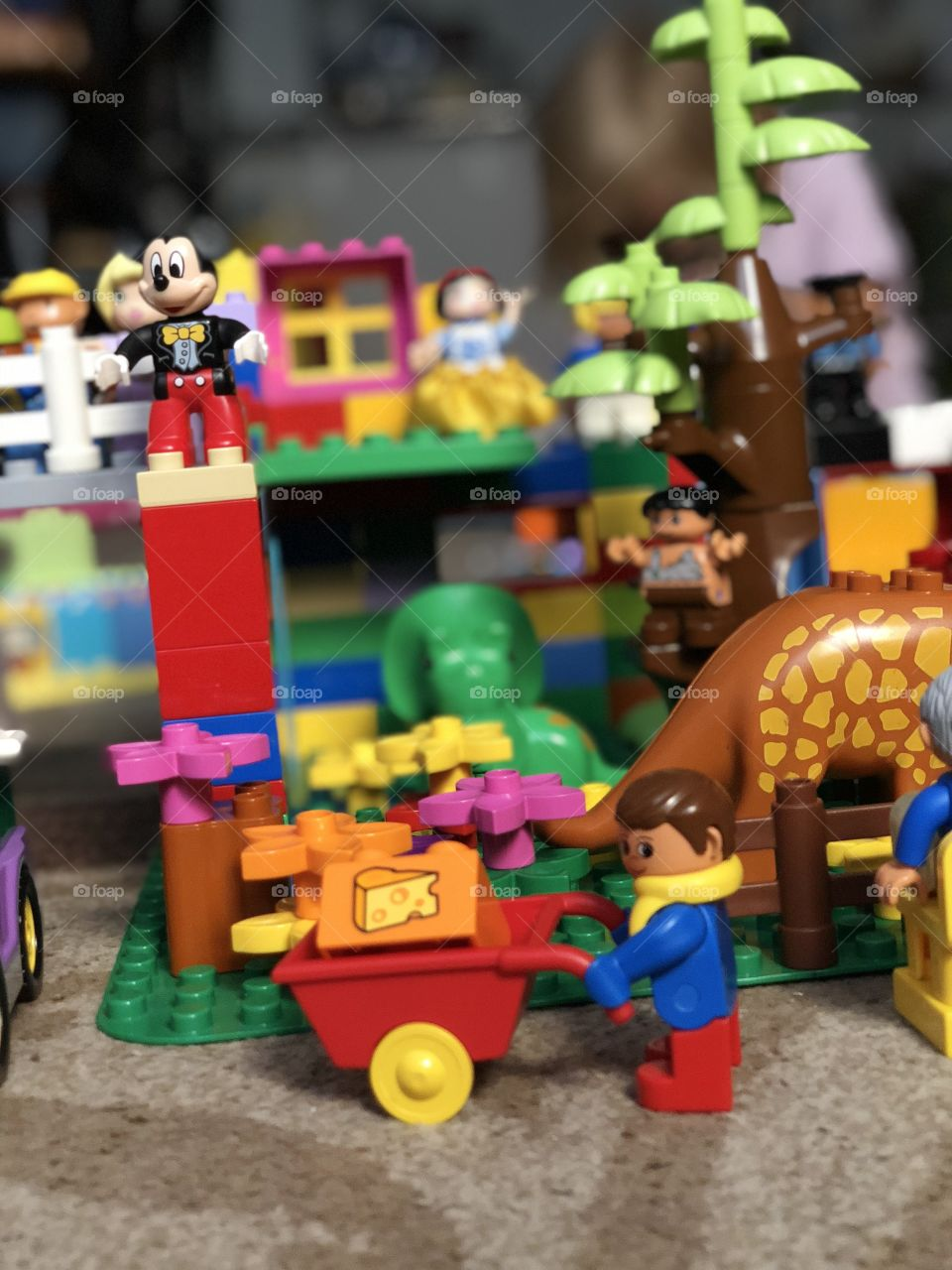 Duplo people and pets