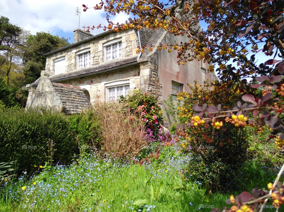 old house with beautiful garden