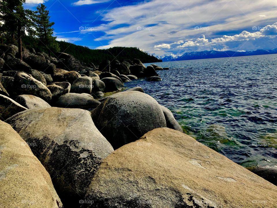 Lake Tahoe in spring