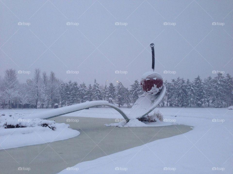 Snowy Spoonbridge and Cherry