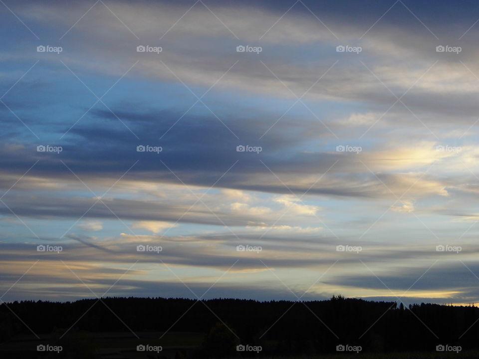 beautiful sky in the evening