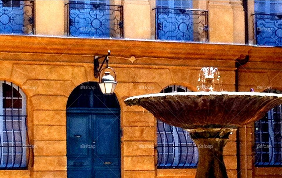Fountain in Aix-en-Provence in France.