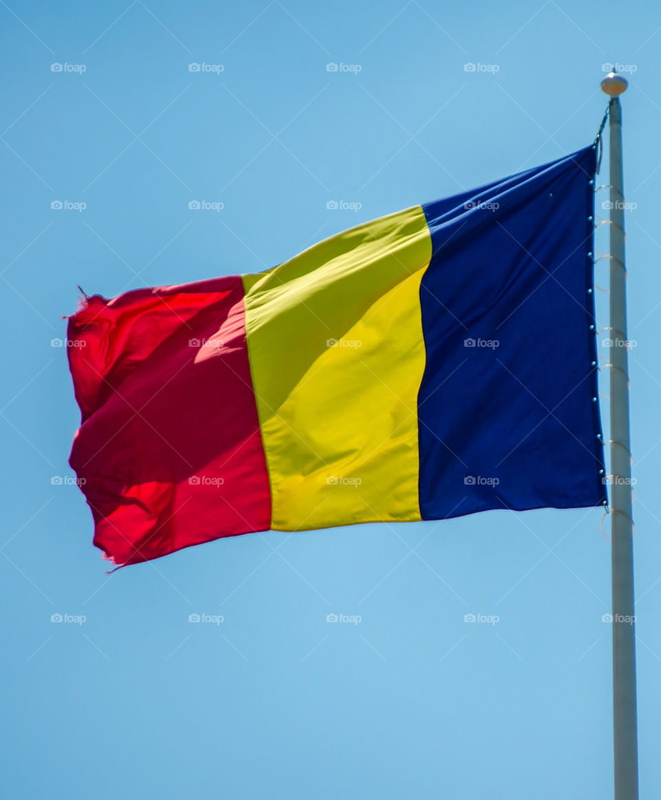 romanian flag. romanian flag
