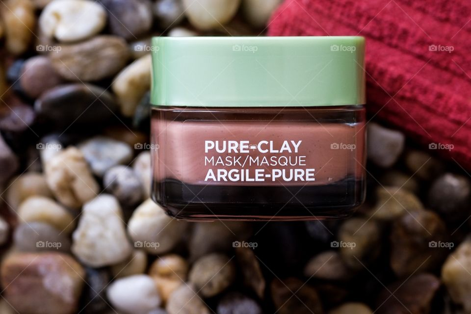 L'Oréal Pure Clay Mask, Anti Aging Therapy, Spa Treatment, Facial Mask Treatment, At Home Spa Clay Treatment, Rocks And Facial Treatments