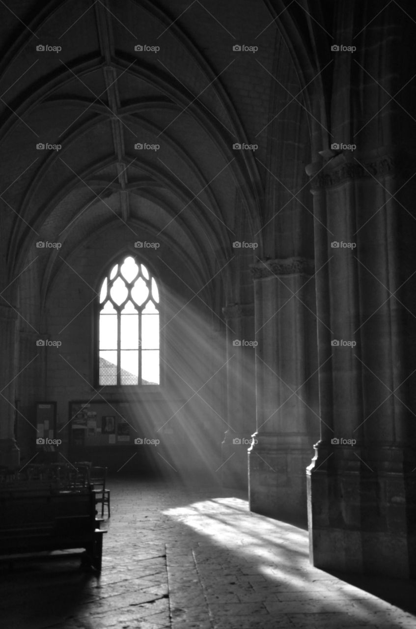 Holy light. Holy light seen in Blois cathedral
