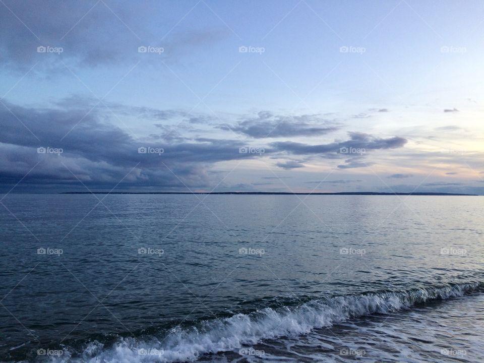 Falmouth Massachusetts Beach at Sunset