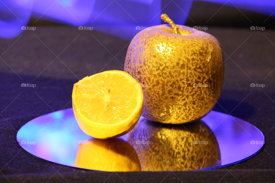 still life with light effects