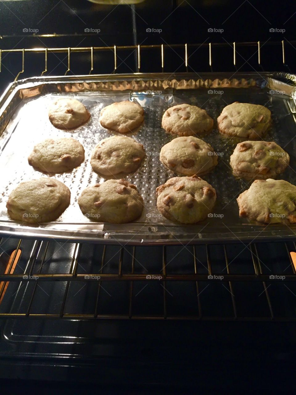 Smells so good in here, homemade butterscotch cookies
