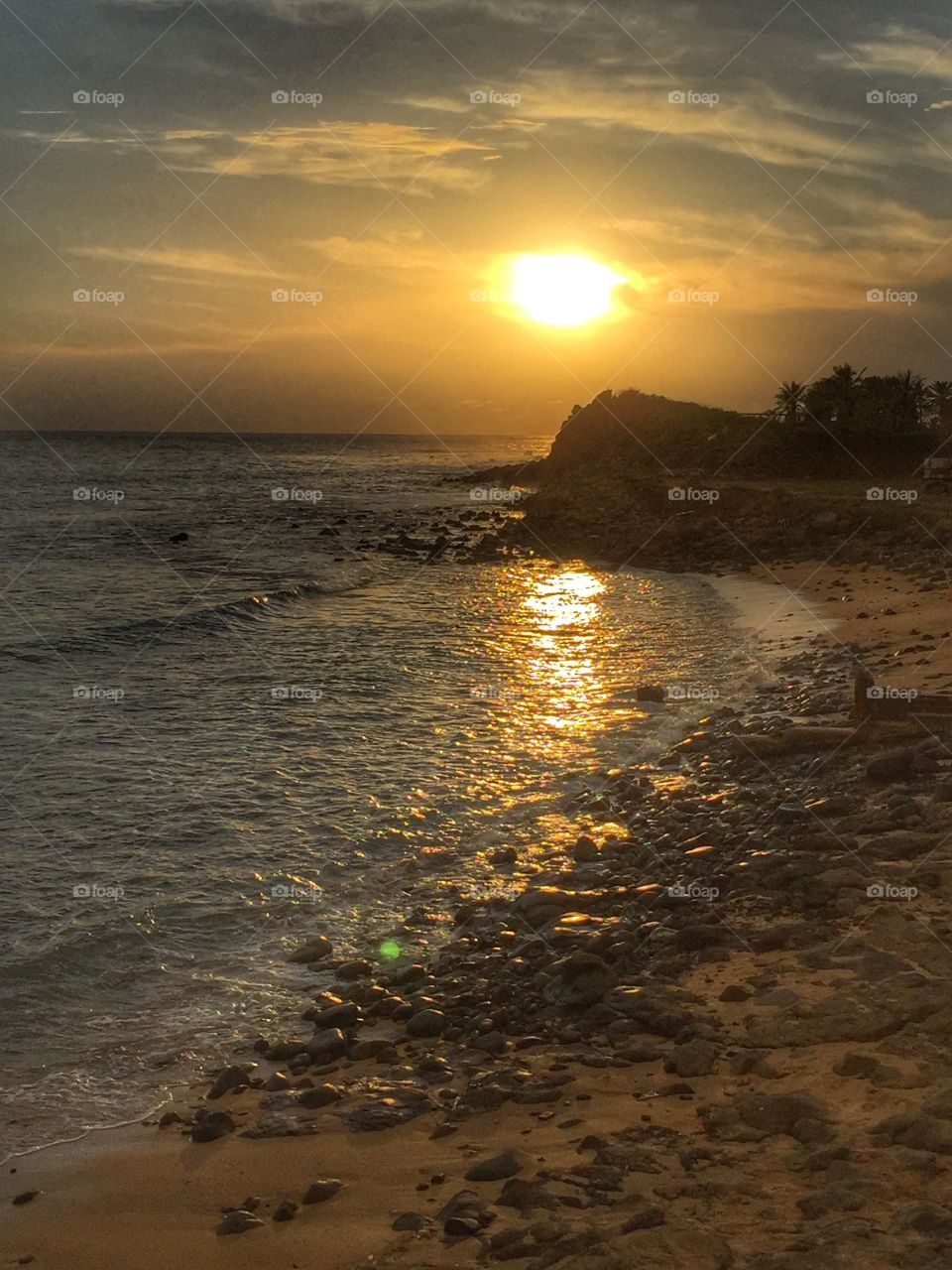 Sunset at Ngor, Senegal. Watching the sun go down over the beach near Africa's westernmost point.
