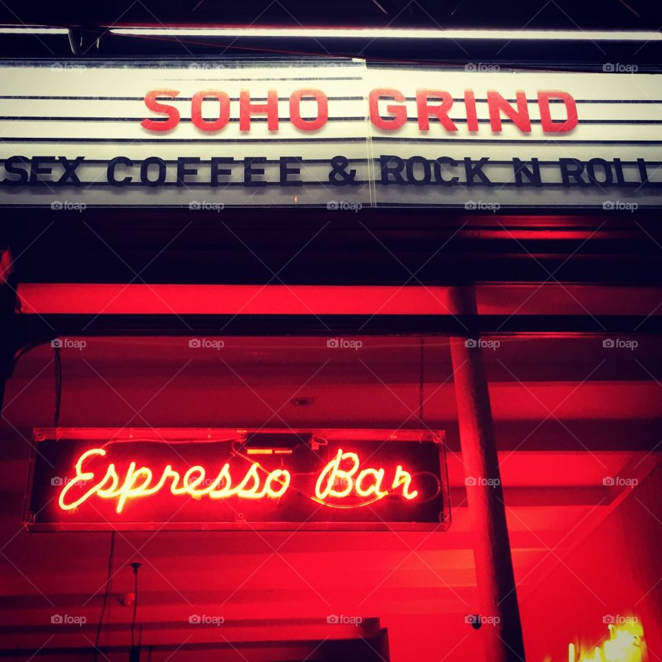 Sex coffee and rock & roll. Life lessons in soho