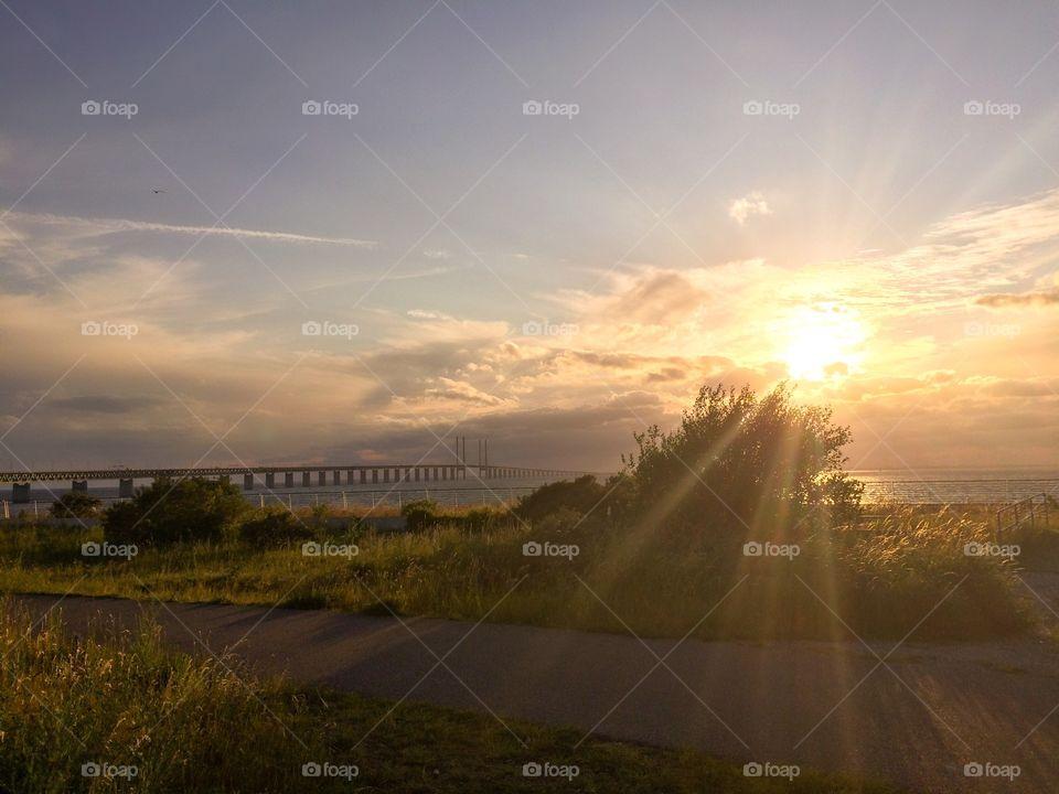 Sunset in Malmö