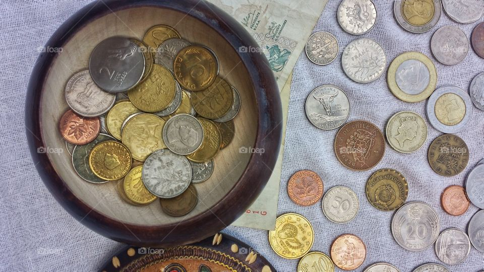 Currency. Coin Collection