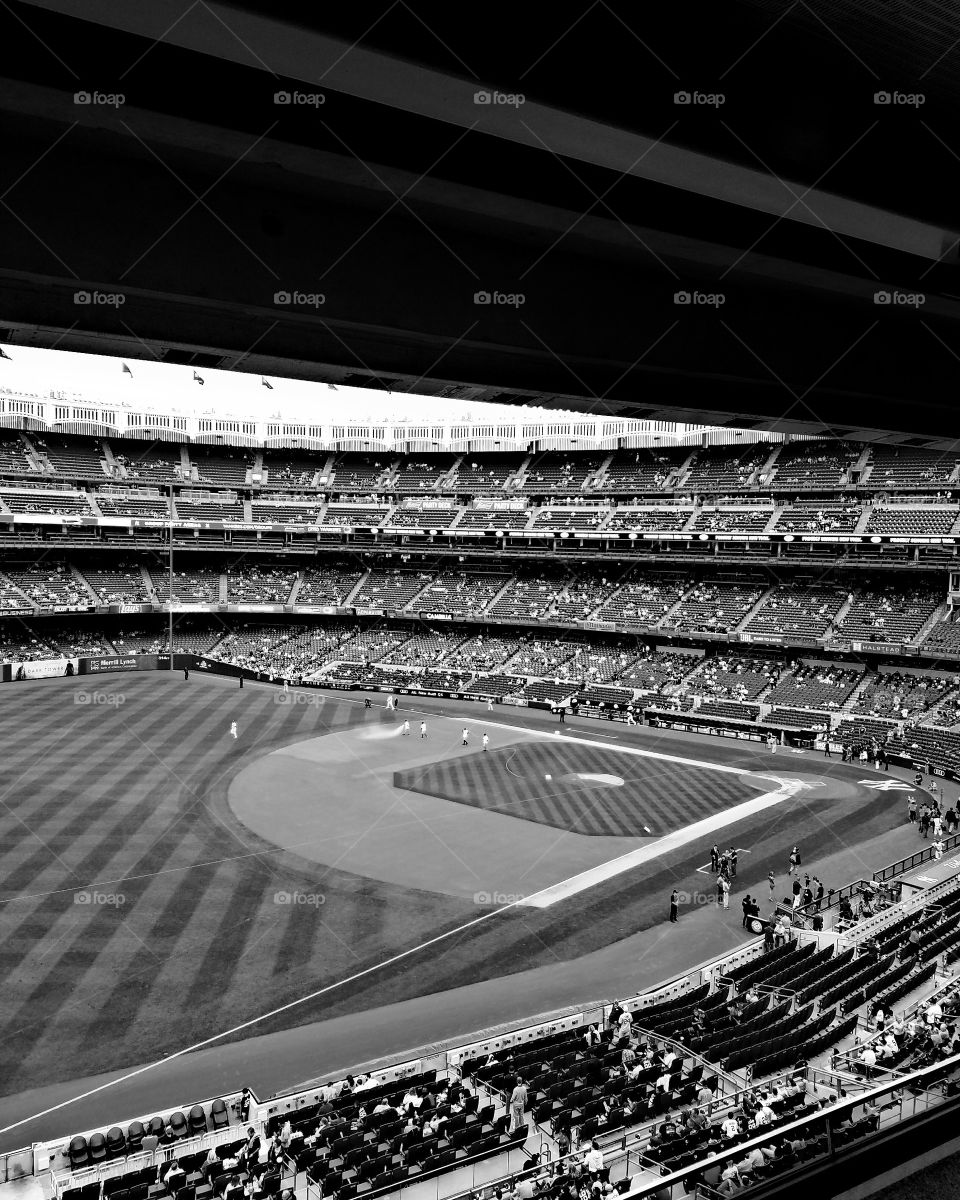 New York City - July 2017 - Yankee Stadium field as seen from Luxury Suite  - Taken on Android Phone - Galaxy S7 - BNW Filter