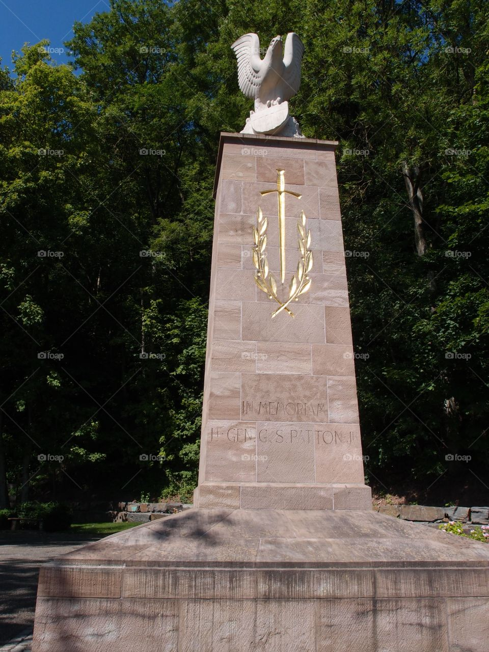 A monument to American World War II General George Patton in Luxembourg.