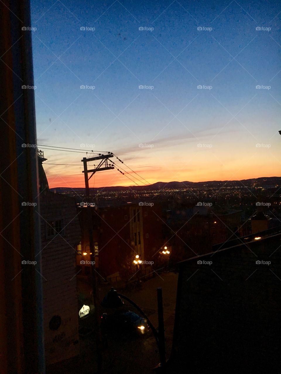 Quebec City sunset