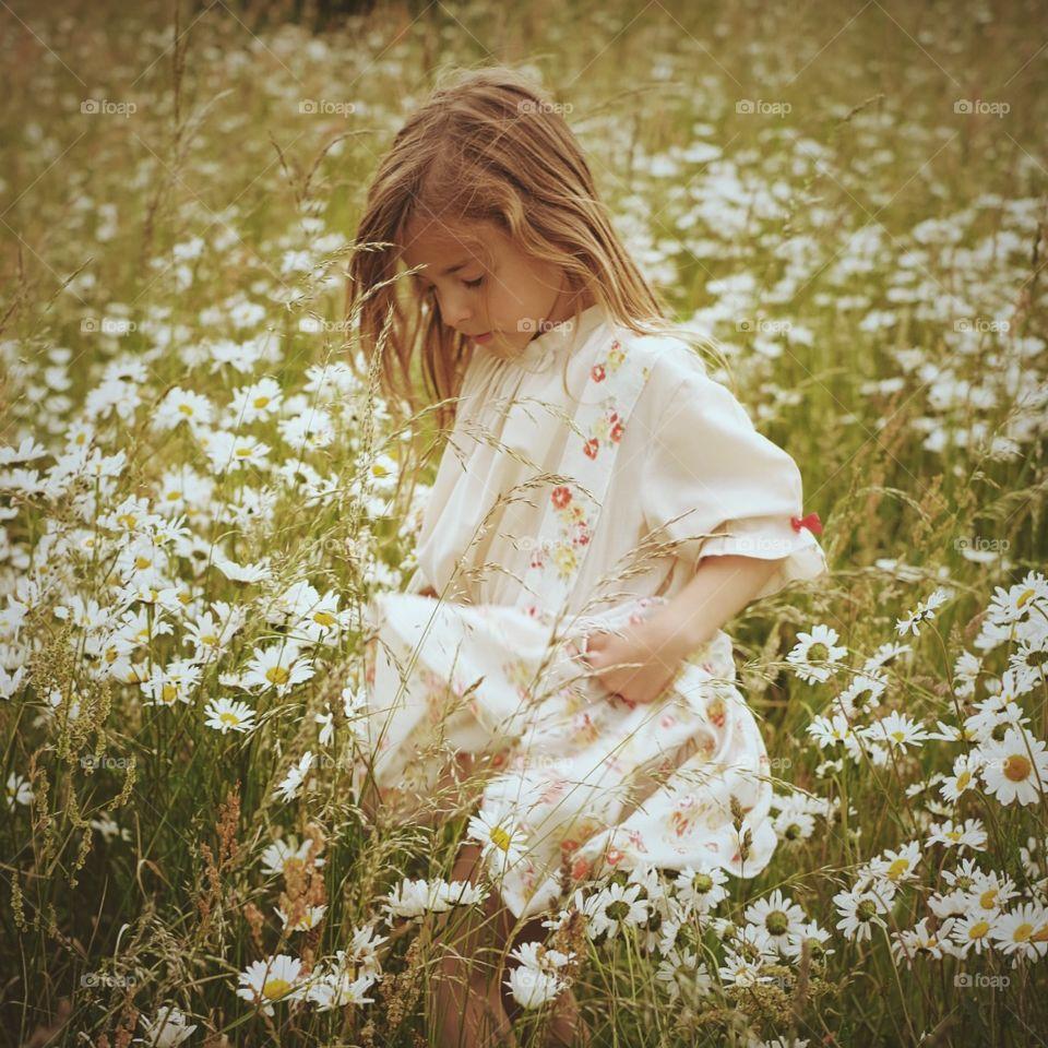 Nature, Girl, Child, Summer, Blond