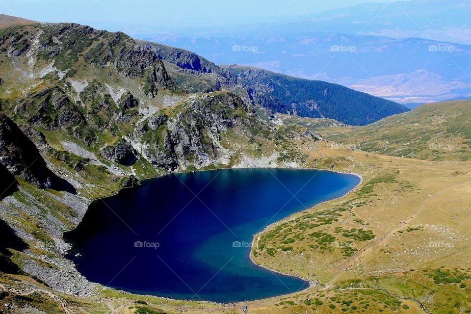 """Mountain lake """"The Kidney"""", Pirin mountain, Bulgaria"""