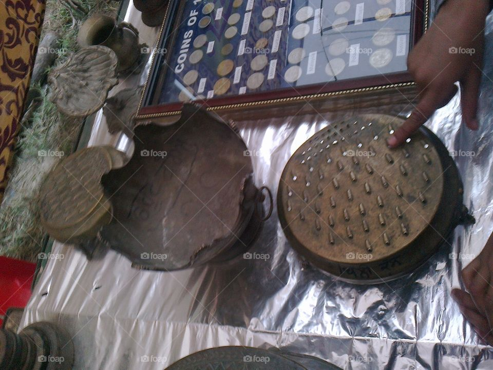 old antique Grater made of brass used to grate foods into fine pieces.