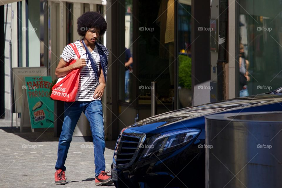 Guy With Afro Haircut Style