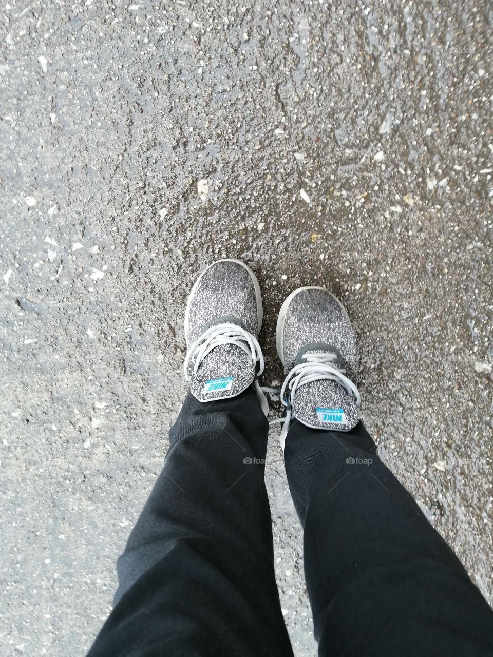 From A  to B: Same shoes, same route goint to work every day for almost 4 years. Thank you to my Nike shoes for keeping me safe while walking for more success.