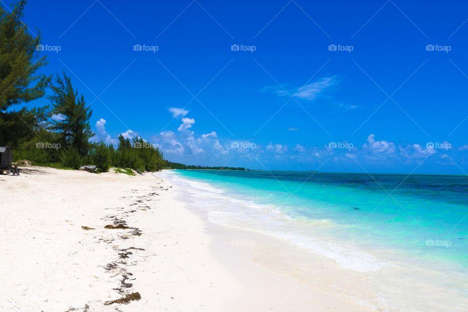 Beach in Bahamas.