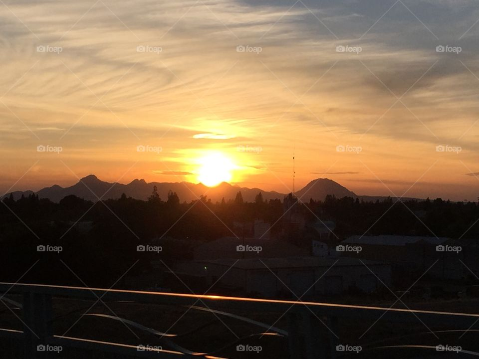 Sunset over the Sutter Buttes